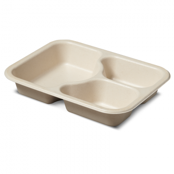 51451TPLA 3-C Regular Compostable Tray